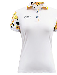 Women's Short Sleeve Golf Tops Anatomic Design Breathable Sweat-wicking Comfortable Golf Leisure Sports