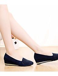 Женские туфли весна комфорт pu casual красный темно-синий черный