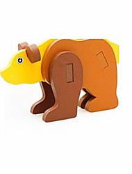 Quebra-cabeças Quebra-Cabeças 3D Blocos de construção Brinquedos Faça Você Mesmo Urso Madeira Modelo e Blocos de Construção