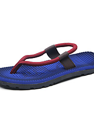 Chinelos de homem&Flip-flops verão luz solas velo casual azul royal khaki vermelho