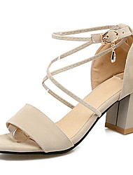 Women's Shoes Chunky Heel Open toe Strappy Akle Strap Sandal More Color Available