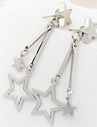 Euramerican Personalized Simple Style More Stars Dangling Style Earrings Lady Business Movie Jewelry