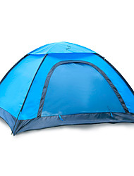 2 persons Tent Single Fold Tent One Room Camping Tent 1000-1500 mm Fiberglass Oxford Waterproof Portable-Hiking Camping-Blue