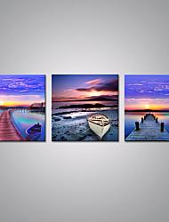 Stretched Canvas Prints Sunset Bridge Picture Print on Canvas Contemporary Landscape Wall Art for  Decoration