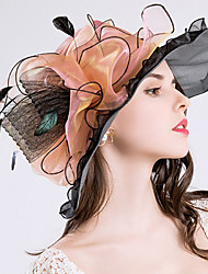 Для женщин Очаровательный На каждый день Панама Шляпа от солнца,Весна Лето Полиэстер Сетка