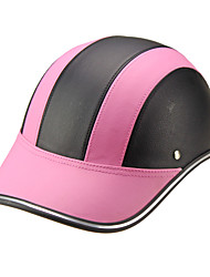Motor Helmet Baseball Cap Style Safety Hard Hat Anti-UV  Pink Black