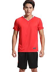 Homme Football Survêtement Respirable Confortable Eté Sportif Térylène Football Rose Pale Jaune Rouge Vert Bleu