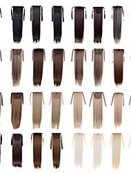 Hochwertige Hochtemperatur-Synthetikfaser 22 Zoll langes gerades Bandpferdeschwanz hairpiece - 16 Farben vorhanden