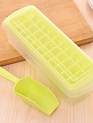 18 Grid Plastic DIY Originality Ice Mould Ice Box With Cover
