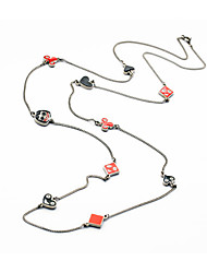 Women's Chain Necklaces Square Heart Chrome Unique Design Euramerican Jewelry For Party Gift Christmas Gifts
