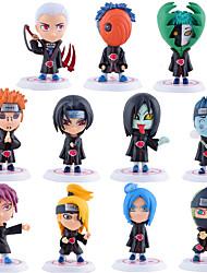 Las figuras de acción del anime Inspirado por Naruto Sasuke Uchiha PVC 7.5*7*6.5 CM Juegos de construcción muñeca de juguete