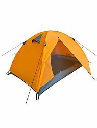 2 человека Световой тент Двойная Палатка Складной тент Влагонепроницаемый Хорошая вентиляция Водонепроницаемость Компактность С защитой