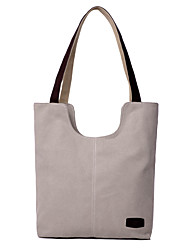 Women Bags All Seasons Canvas Tote with for Wedding Event/Party Casual Formal Outdoor Black Beige Dark Blue Gray Brown