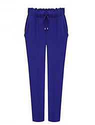 De las mujeres Pantalones Harén - Casual / Tallas Grandes Microelástico - Licra / Poliéster