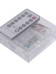 5W W Cordões de Luzes lm Bateria 5 m 50 leds Branco Quente Branco RGB Azul