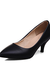 Women's Heels Spring Summer Formal Shoes Leatherette Wedding Office & Career Dress Kitten Heel Beige Black White