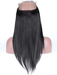 reta 360 rendas fechamento frontal brailian vingin pré cabelo humano arrancou 360 rendas frontal com cabelo do bebê fio natural fechamento