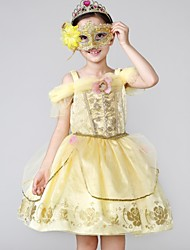 Ball Gown Short / Mini Flower Girl Dress - Satin Tulle Straps with Appliques Ruffles Sequins