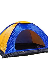 3-4 personnes Tente Unique Tente pliable Une pièce Tente de camping 2000-3000 mm Fibre de verre Oxford Etanche Portable-Randonnée Camping