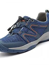 Herren-Sportschuhe-Lässig-Tüll-Flacher Absatz-Komfort-Grau Blau Khaki