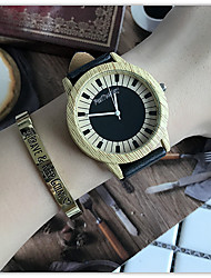 Luxury Brand Bamboo Piano Watches Relogio Masculino Wood Wristwatch Quartz Fashion Watch Leather Clock
