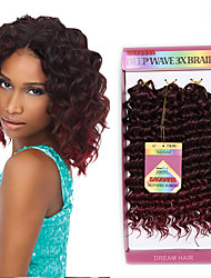 Ombre Hair Weaves Brazilian Texture Deep Wave 6 Months 3 Pieces hair weaves