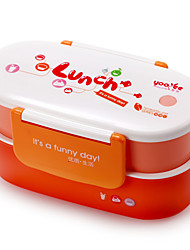 Stylish Double Layer PP Bento Lunch Box with Spoon