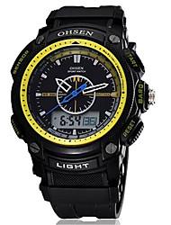 Муж. Модные часы электронные часы Китайский Цифровой Pезина Группа Черный Коричневый Зеленый