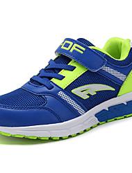 Da ragazzo-scarpe da ginnastica-Casual-Comoda-Piatto-Tulle-Blu scuro Nero e Blue Royal Blue