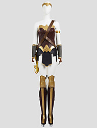 Cosplay Costumes Super Heroes Movie Cosplay Princess Diana Wonder Female Costume SolidTop / Skirt / Armlet / Gloves / Kneepad / Strap /
