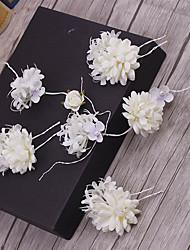 Ткань headpiece-wedding специальное случай случайный напольный штырь волос 5 частей