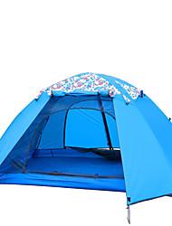 FLYTOP 3-4 personnes Tente Double Tente de camping Tentes Familiales Etanche Pare-vent Résistant aux ultraviolets Pliable Respirabilité