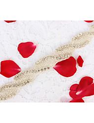 Alloy Wedding Party/ Evening Dailywear Sash-Beading Appliques Rhinestone Beading Appliques Rhinestone
