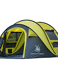 3-4 persons Tent Single Automatic Tent One Room Camping Tent Fiberglass Oxford Waterproof Ultraviolet Resistant Windproof Foldable-Hiking