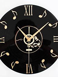 Retro Office/Business Holiday Music Wall ClockNovelty Acrylic Metal Indoor Clock