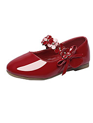 Boys' Flats Spring Fall Comfort Leatherette Wedding Outdoor Office & Career Party & Evening Casual Flat Heel Applique Magic TapeRed Black
