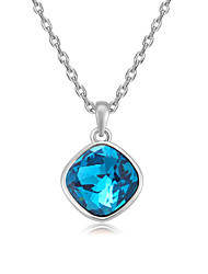 Women's Pendant Necklaces Jewelry Square Jewelry Crystal Alloy Unique Design Euramerican Fashion Jewelry 147Party Other Ceremony Evening