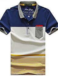 Homme Tee-shirt Pêche Respirable Eté Jaune gris Bourgogne