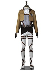 Inspired by Attack on Titan Levy Anime Cosplay Costumes Cosplay Suits Solid Long Sleeve Top Pants Apron Belt More Accessories T-shirt For