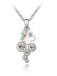 Women's Pendant Necklaces Jewelry Jewelry Gem Alloy Unique Design Fashion Light Blue Blushing Pink Purple White Jewelry ForParty Gift