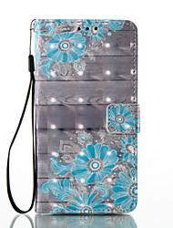 Pour Portefeuille Porte Carte Avec Support Clapet Motif Coque Coque Intégrale Coque Fleur Dur Cuir PU pour HuaweiHuawei P9 Lite Huawei P8