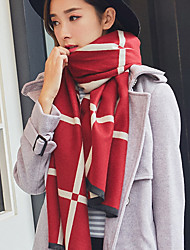 Grid Big Long Scarf Shawl England Rectangle Women's Scarves