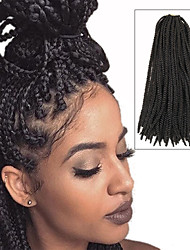 Box Braids Twist Braids Dark Brown Hair Braids 24Inch Kanekalon 90g Synthetic Hair Extensions