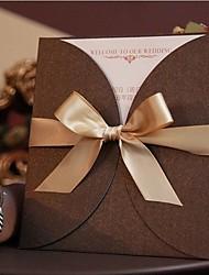Tasca Inviti di nozze 50-Invito Cards Moderno Carta satinata Nastro