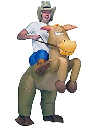 Brown Cowboy Horse Outfit Funny Inflatable Costume Halloween Carnival Cosplay Cow Boy Rider Horse Inflatable Costume For Adults