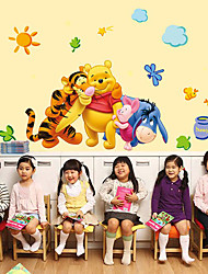 Cartoon Winnie The Pooh Family Wall Stickers Home And Garden Removable Children's Bedroom Wall Stickers