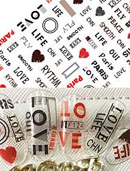 1pcs autocollant à la mode à la mode autocollants 3d autocollant mignon amour coeur charmant design personnalité alphabet décoration