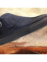 Herren-Sneakers Frühjahr Mokassin Trockenheit Schweinehaut Leder Tüll lässig blau rot schwarz