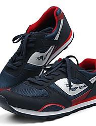 Unissex-Tênis-Conforto-Rasteiro-Preto Azul Marinho Azul Real-Sintético-Ar-Livre Casual Para Esporte