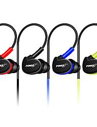 Fonge s500 3,5 мм проводной наушник с шумоподавлением наушники-вкладыши стерео наушники с микрофоном водонепроницаемые спортивные наушники